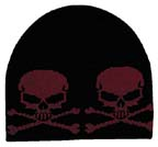 Skull and Crossbones Knitted Cap