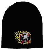 Skull Cap With Biker Cross