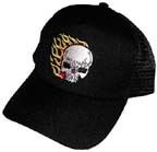 Skull and Flames Baseball Cap