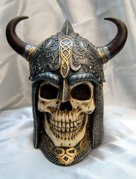 Viking Skull Stash Box/Cookie Jar